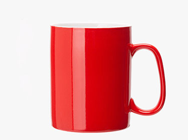 1000ml Red large mug ceramic mugs solid color spoon with cover straight coffee mugs with logo