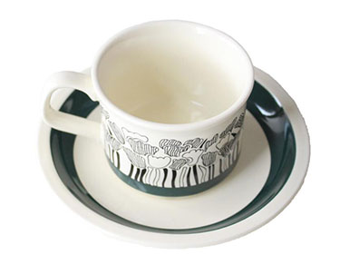180ml China Manufacturers Ins nordic finland medieval coffee mugs black afternoon tea cup and saucer